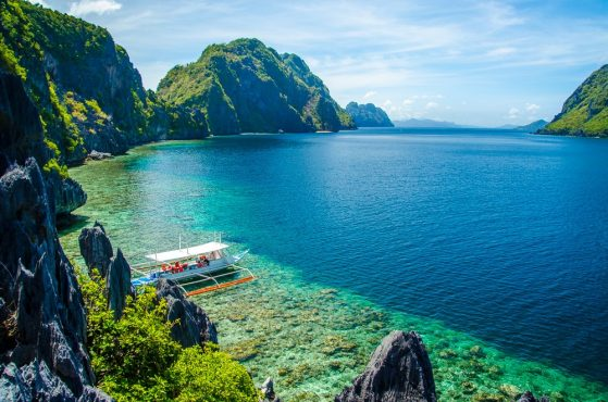 The view from the Matinloc Shrine in the El Nido archipelago