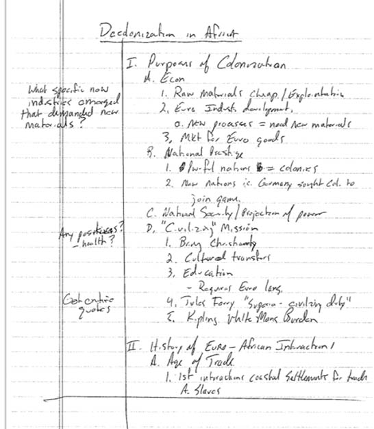 Developing Your Personal Note Taking Style