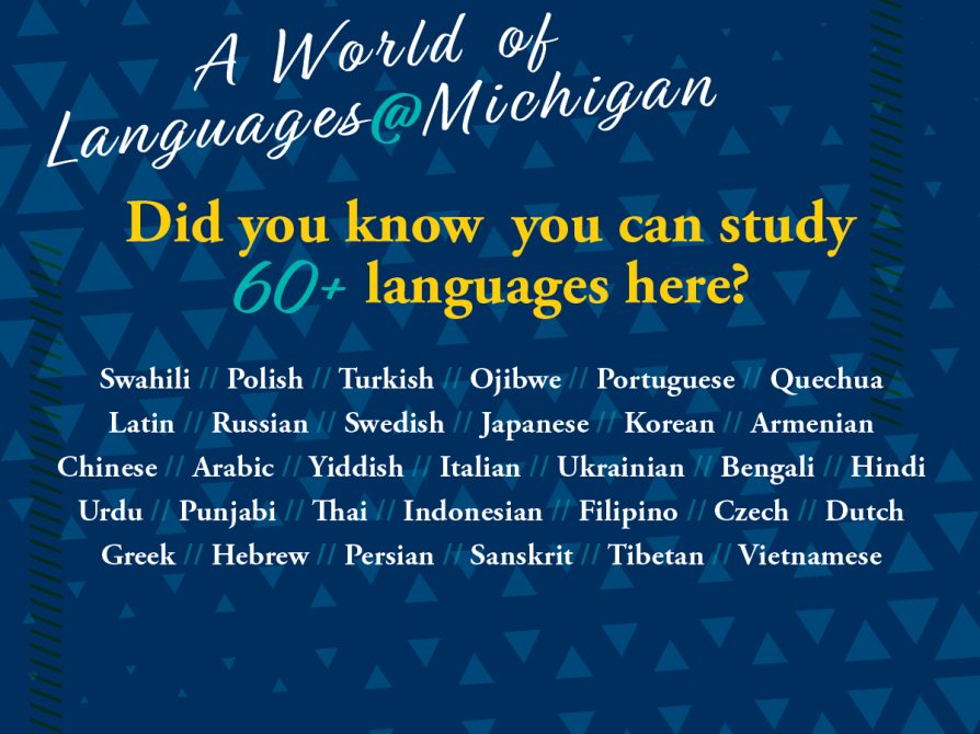 A World of Languages @ Michigan Slider