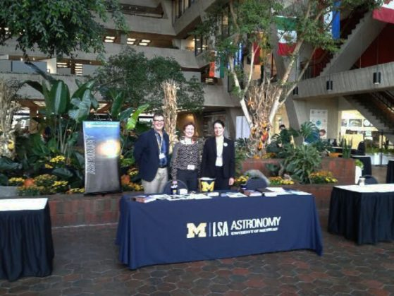 U-M Astronomy Faculty Michael Meyer, Emily Rauscher, and Keren Sharon at the NSBP Fall 2016 Conference