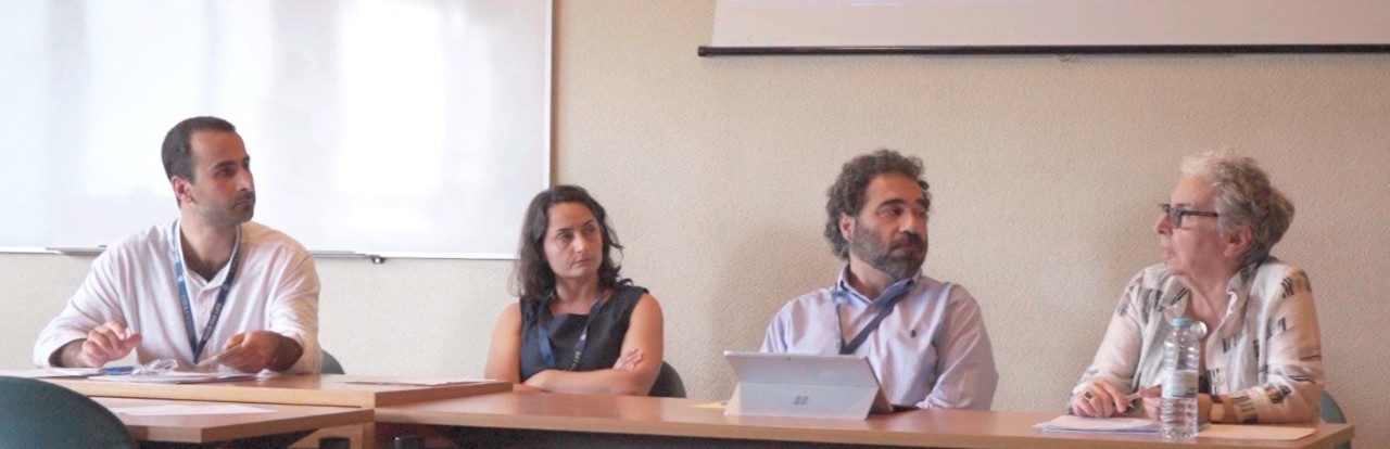 Picture of the Oshagan panel: L to R: Karen Jallatyan, Nanor Kebranian, Hagop Kouloujian, Taline Voskeritchian