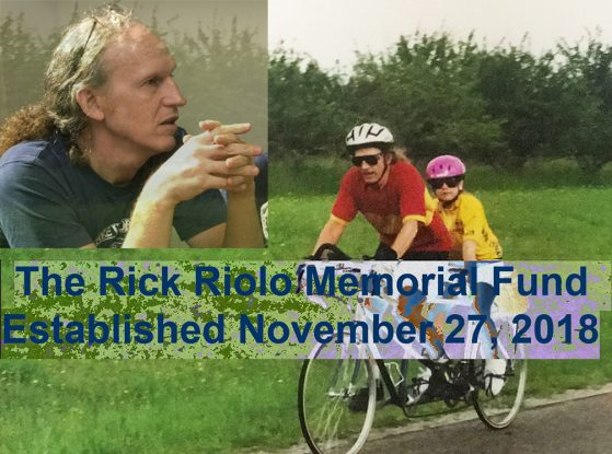 Photo Collage of Rick and daughter Maria announcing Rick Riolo Memorial Fund