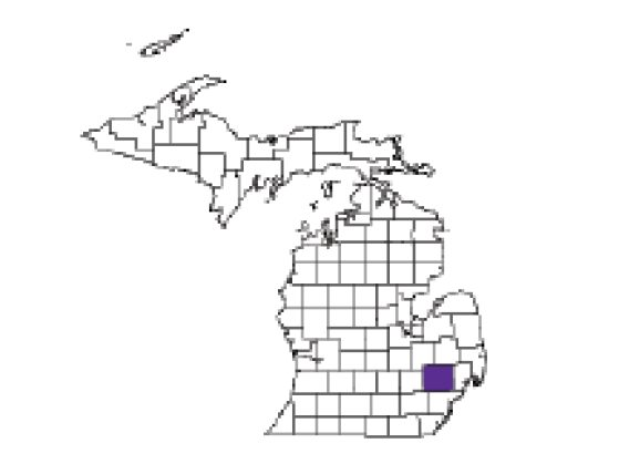 Oakland County map