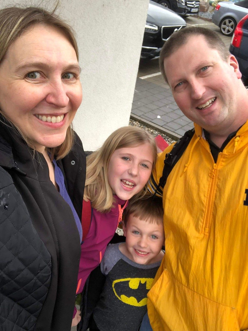 The Wittkopp family – Trisha, Morgan, Jacob, Keith – in Heidelberg where Trisha was on sabbatical in 2019.