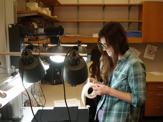 Katy Lazarus was an undergraduate student when she worked on the lichens digitization project.