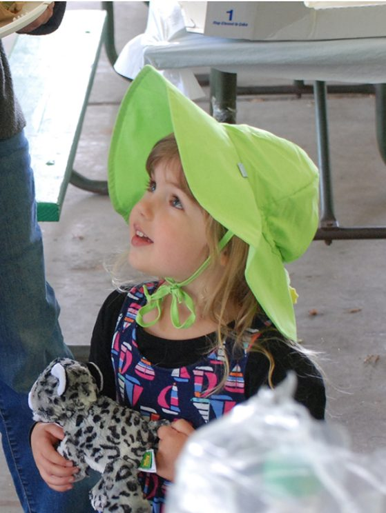 Alison Davis Rabosky and Dan Rabosky's daughter, Maya, takes the prize for best hat!