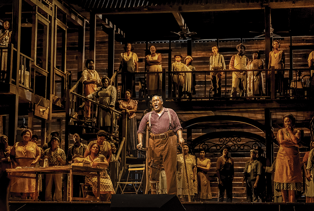 American baritone Eric Owens performs as part of the Metropolitan Opera's 2019 production of Porgy and Bess. The Seattle Opera, where Professor Naomi André is a scholar in residence, performed the opera in 2018. (Jack Vartoogian / Getty Images)