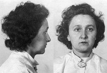 Ethel Rosenberg mugshot from the front and in profile