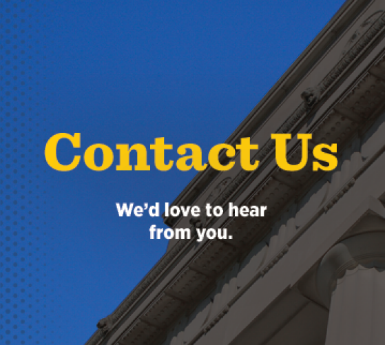 Contact Us: We'd love to hear from you.