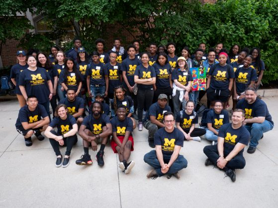 Wolverine Pathways scholars gather with FTVM faculty and staff for a photo