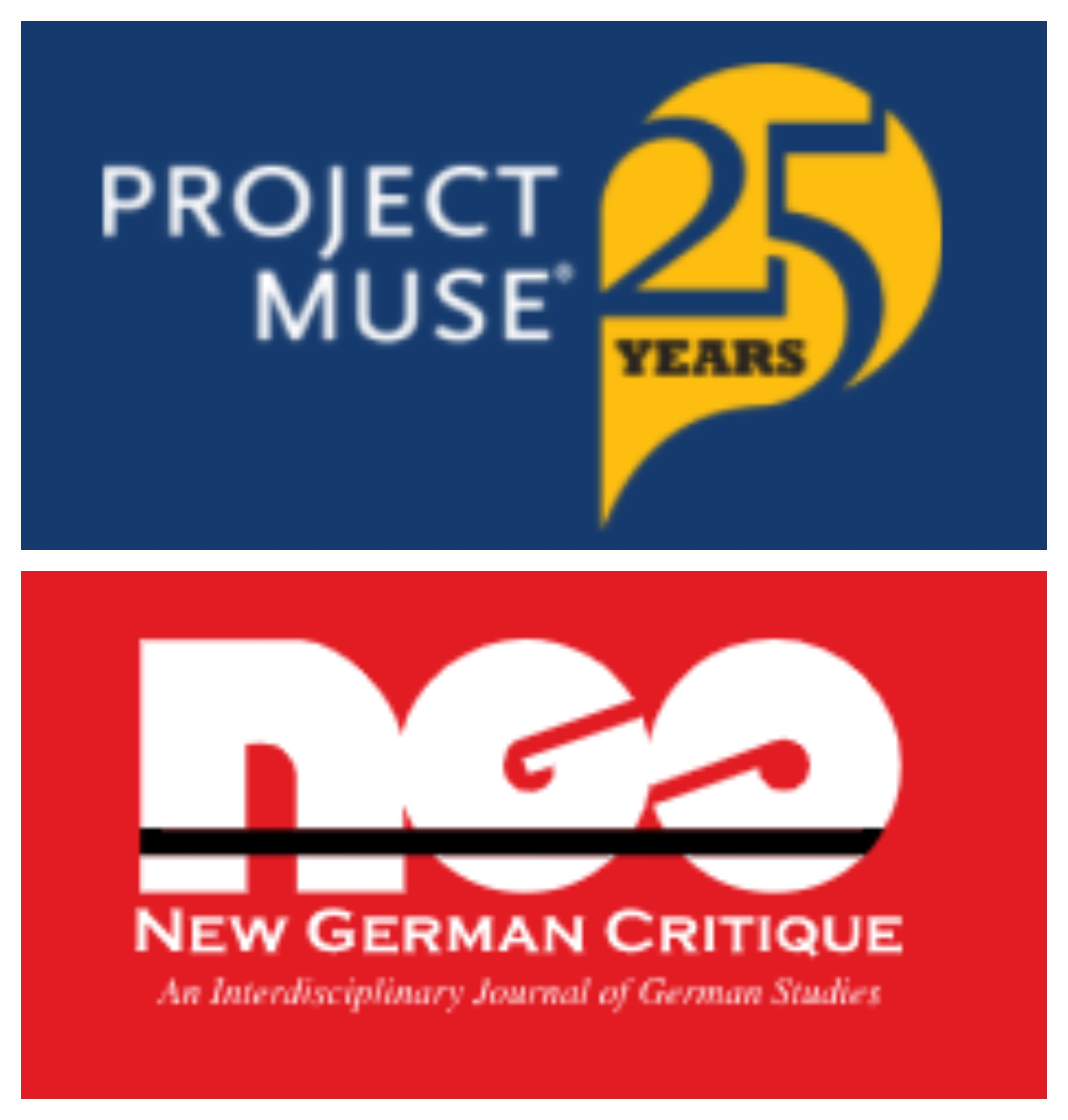 Project Muse and New German Critique logos
