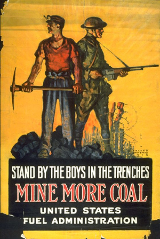 Walter Whitehead, Mine More Coal, 1918, Gift of Mr. Maurice F. Lyons, 1954/2.35.104