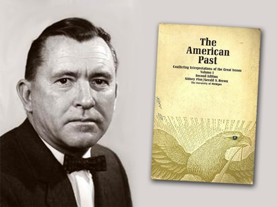 "Gerald S Brown and cover of ""The American Past"""