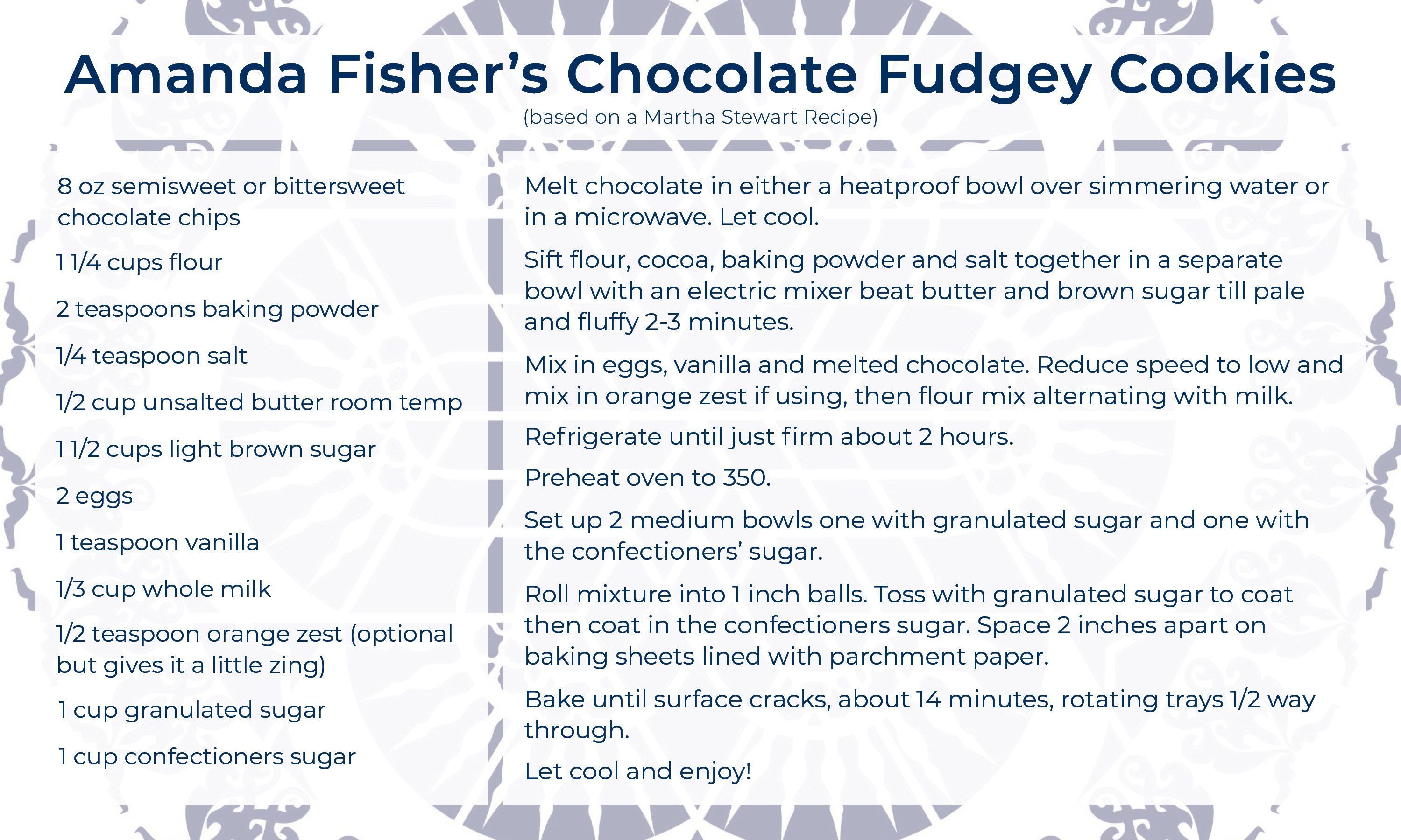 Amanda Fisher Cookie Recipe
