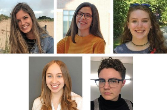 Headshots of the five Jackier Prize winners for 2020