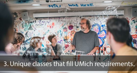 3. Unique classes that fill UMich requirements.
