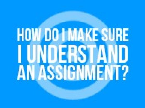 How Do I Make Sure I Understand an Assignment?