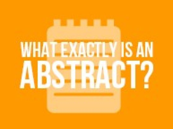 What Exactly is an Abstract?