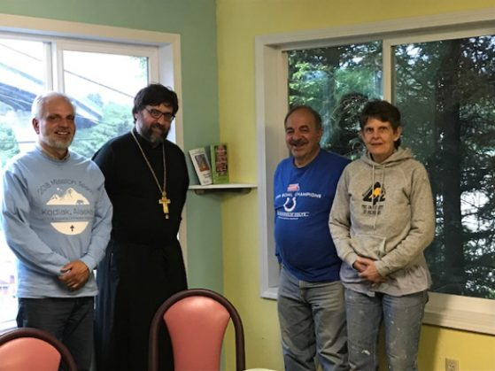Left to Right: Dan Svrechek, V. Rev. John Dunlop, Doug Fadel, and Martha Payne.
