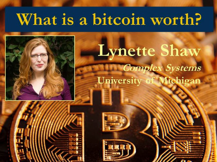 Slide with photo of Lynette, Talk Tile and Bitcoin graphic.