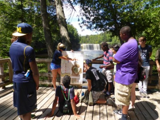 A geology lesson at Tahquamenon Falls State Park