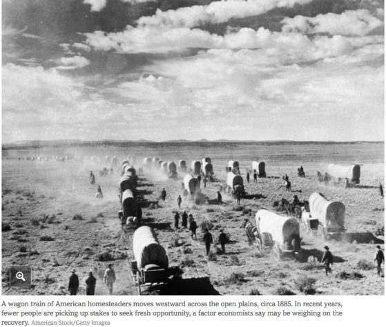 Photograph of Covered Wagons