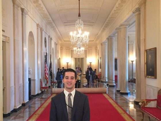 Undergrad Jeremy Brown in White House
