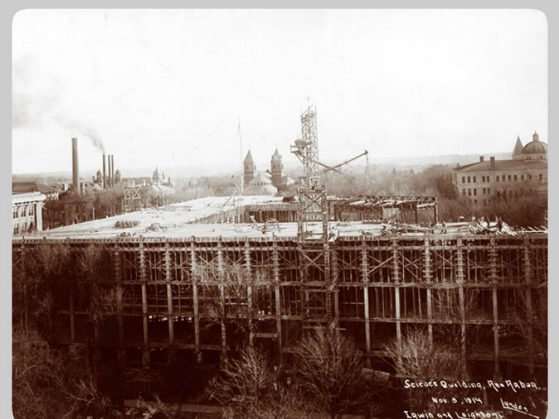 Natural Science Building under construction in 1914.