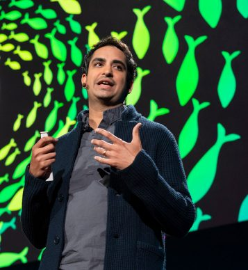 Prosanta Chakrabarty giving a TED talk on evolution