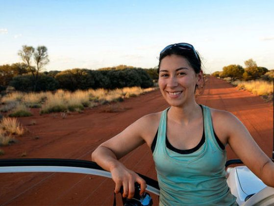 Talia Moore, in Australia for fieldwork, studies animal biomechanics. Image: Christofer Clemente