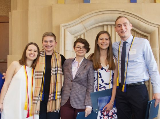 2018 departmental honors students