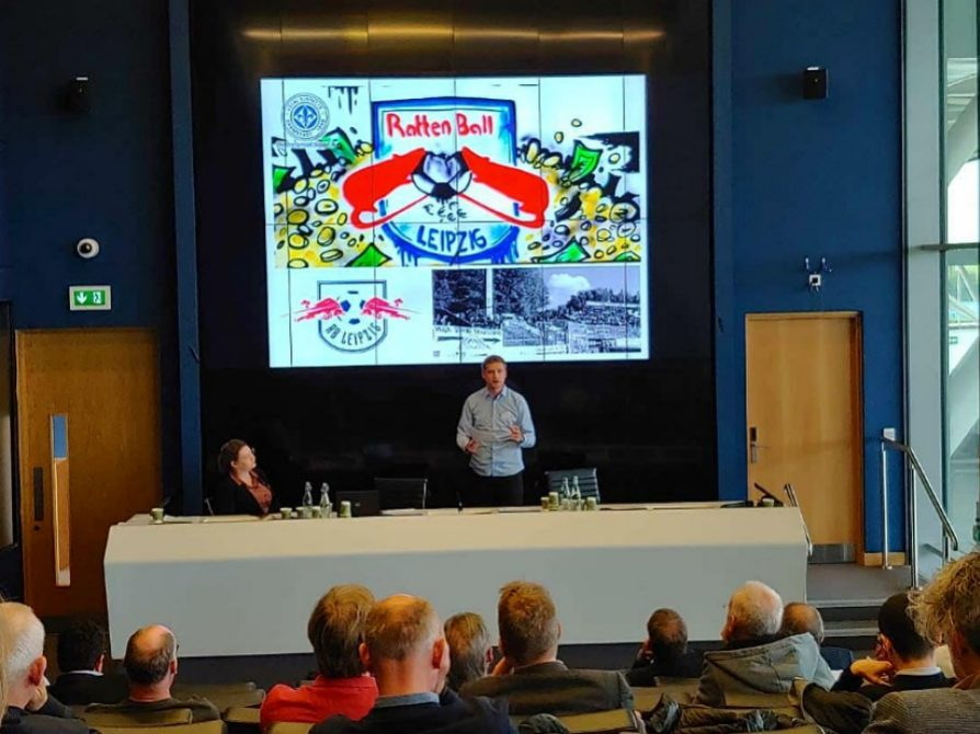 Pavel Brunssen presents at International Football History Conference June 7, 2019