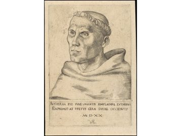 woodcut of Martin Luther by Baldung Grien, dated 1521