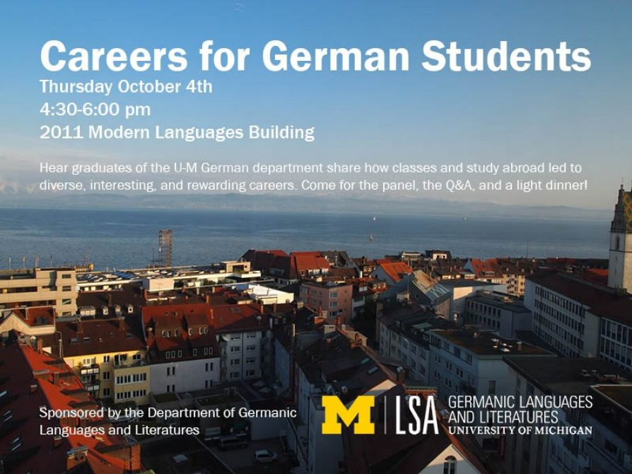 german career alumni panel infographic
