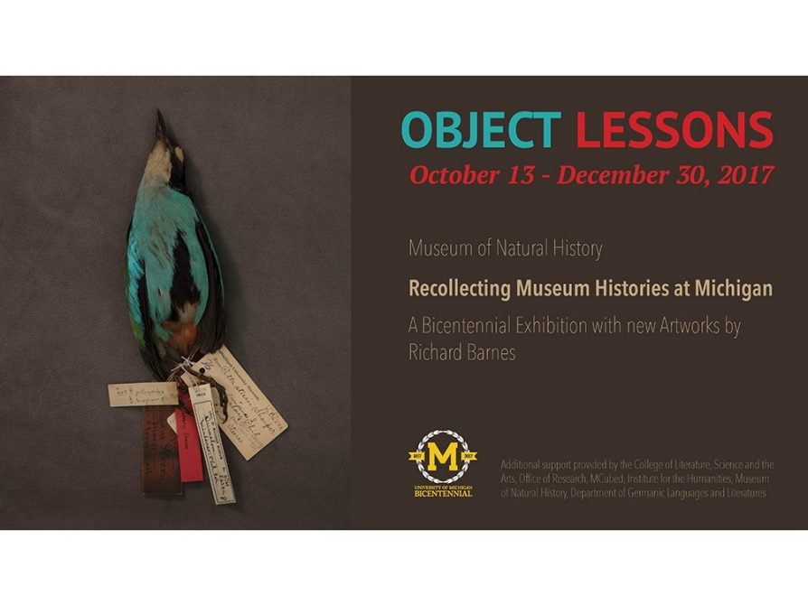 object lessons exhibit Oct 13 - Dec 30