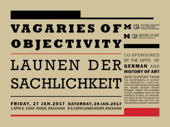 Vagaries of Objectivity / Launen der Sachlichkeit event infographic