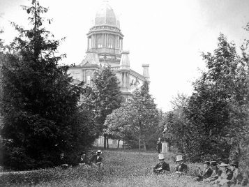 Sophomore class of 1877 in front of University Hall.