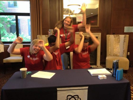 Neel and fellow Peer Advisors on HSSP Move-In day, 2015