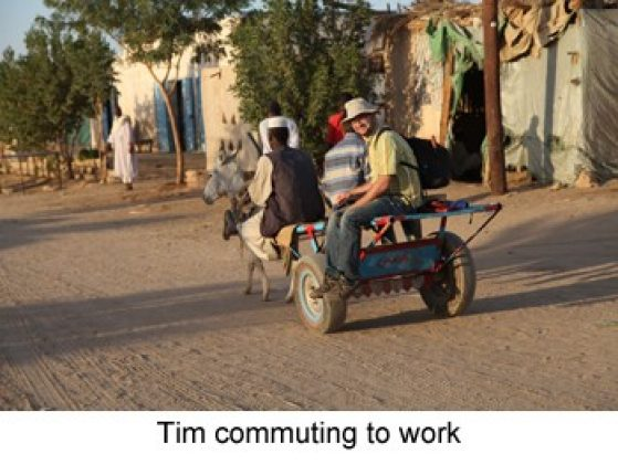 Tim commuting to work