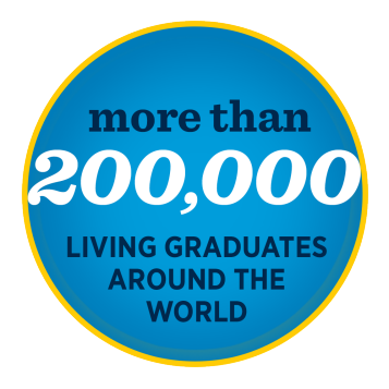 More than 200,000 living graduates around the world