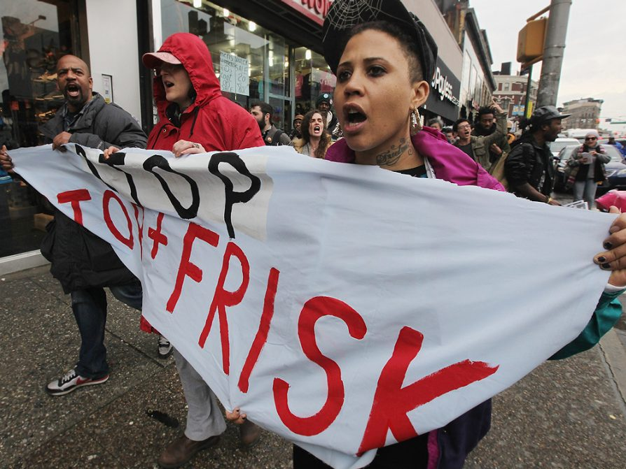 A demonstration against the NYPD stop-and-frisk policy