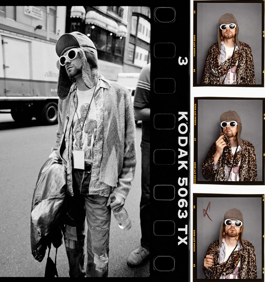 Kurt Cobain wearing sunglasses