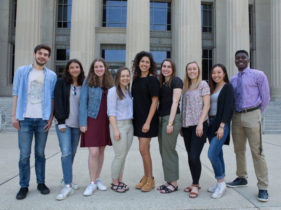 A group shot of the Applebaum interns