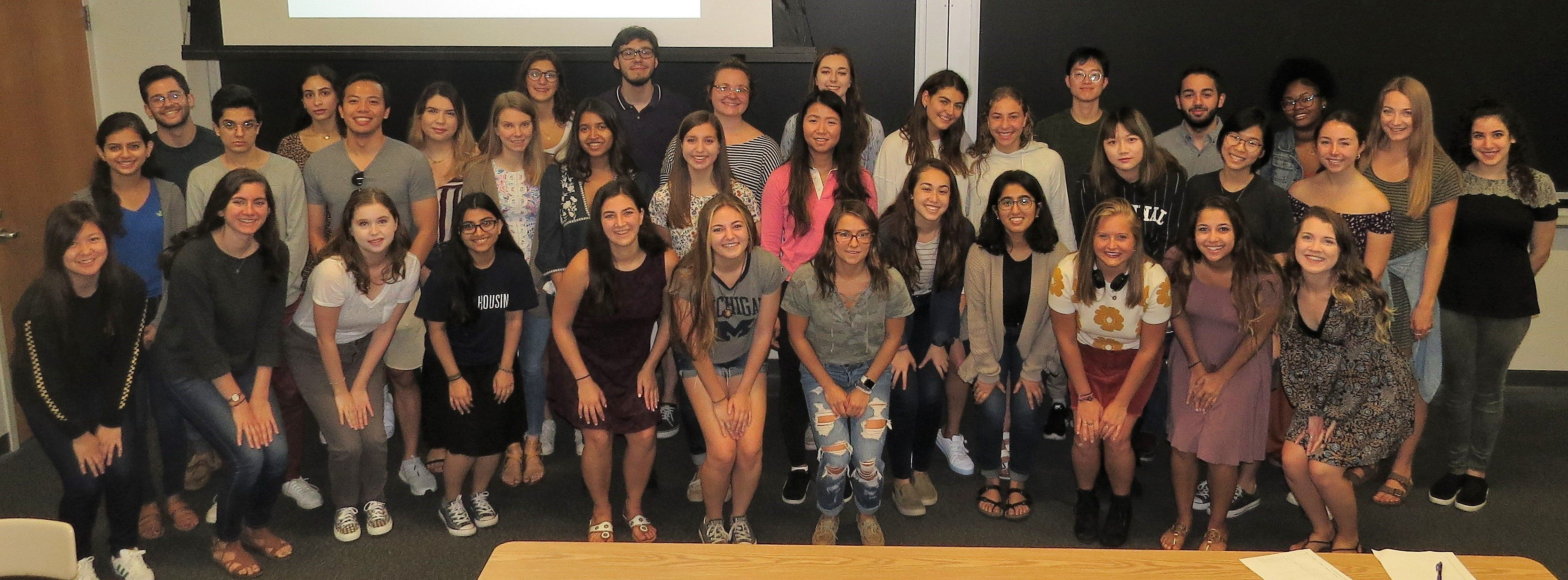 2018-2019 Psychology Honors Cohort