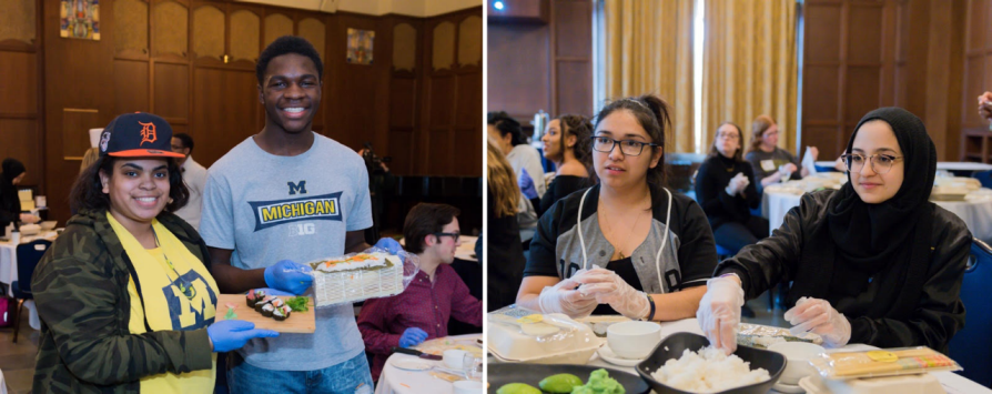 Peer mentor pairs at a recent Kessler Scholars Sushi Social event.