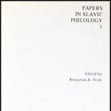 Papers in Slavic Philology (PSP) | U-M LSA Slavic Languages