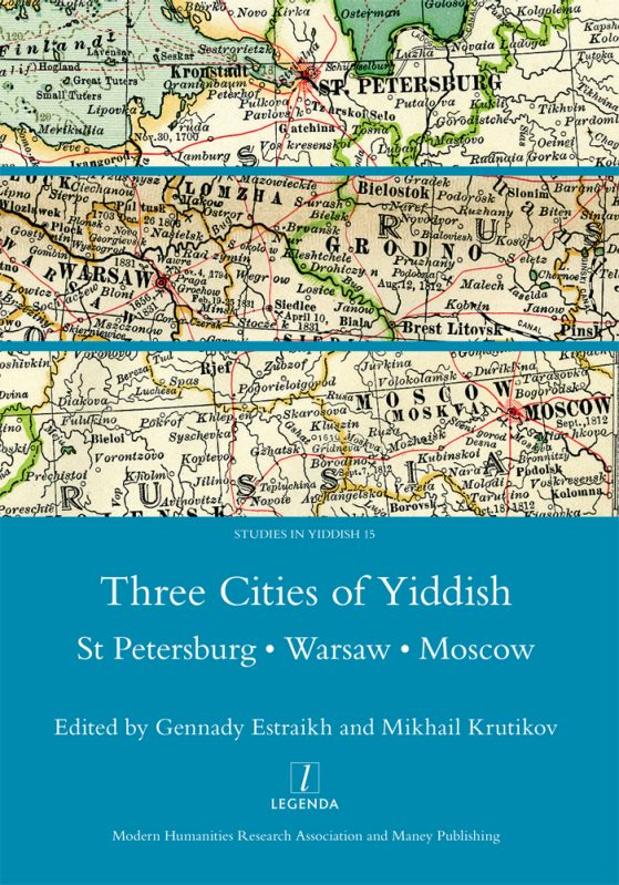 cover of Three Cities of Yiddish book