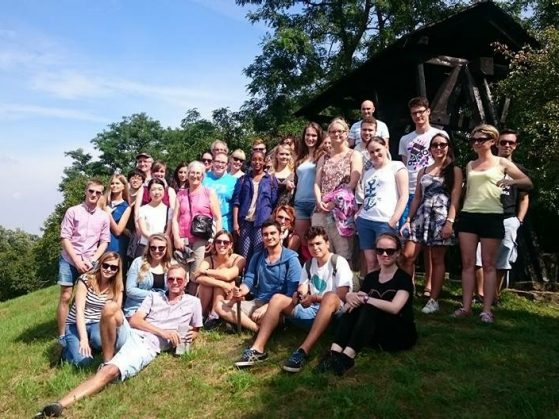 A group photo on a weekend trip to Giecz, Gniezno, and Ostrów Lednicki