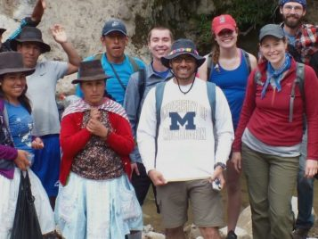Jose Alfaro with Sustainability Without Borders team in Peru