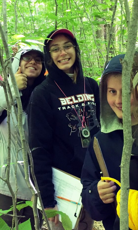 Students in the forest taking allometry measurements
